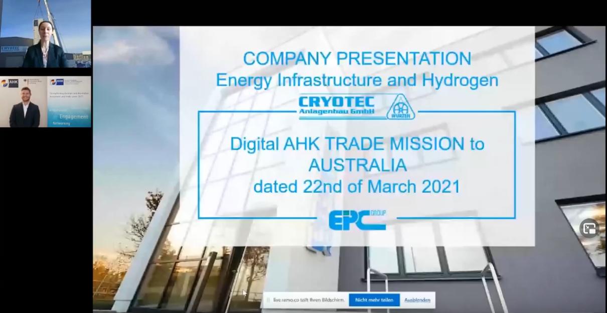Screenshot des Vortrags von CRYOTEC Anlagenbau